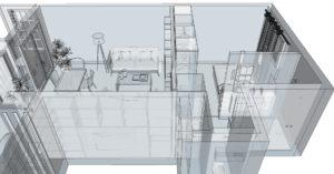 Etude plan de renovation appartement à Ivry sur Seine