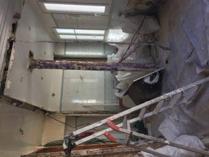 travaux de démolition dans un appartement à Vincennes